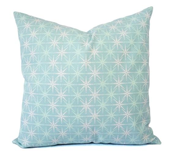 Christmas Pillows Blue And White Pillow Cover Aqua Pillow