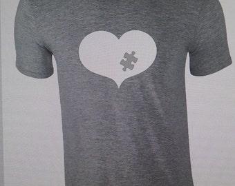 Autism Tshirt, Autism Shirt, Autism heart Tshirt,  Tshirt, Autism Awareness Tshirt