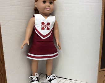 Mississippi State Cheer Uniform for 18 inch doll