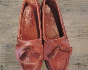 Heartland Men's Heartland Loafer High End Genuine Leather Handcrafted Leather Men's Tassel Loafer Slip On -By God Oddities Decor on Etsy