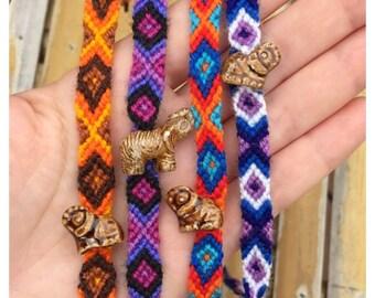 Elephant Friendship Bracelet/ Elephant Bracelets/ Friendship Bracelets/ Luck Bracelet/ Party Favor