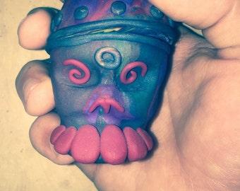 Day of the Dead Skull Head Pot Handmade ancestor Spirit Vessel magic witch shaman hoodoo voodoo