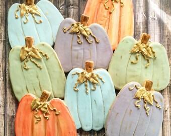 Fall Pumpkin Sugar Cookies