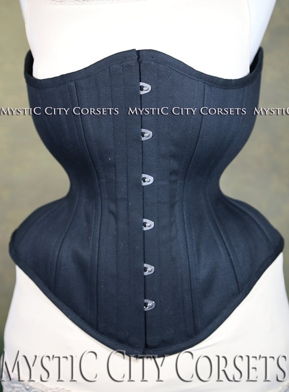 1950s Style Lingerie & Sleepwear New MCC-95 cotton Underbust long line tightlacing waist training corset MystiC City Corsets $89.99 AT vintagedancer.com