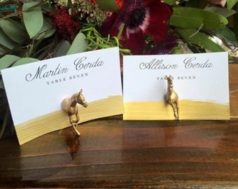 Magnetic Place Card holder- 20 complete horses- Custom Color