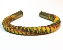 Vietnam Vet 40 Cal Bullet Casing Paracord Bracelet