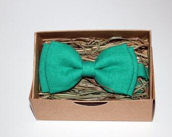Handmade turquoise bow tie