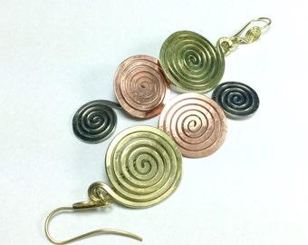 """Spiral earrings ' 3 element"""