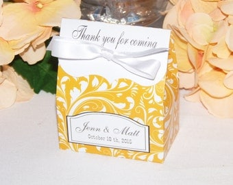10 Personalized Favor Bags Candy Buffet Bag Pretty Tangerine Orange