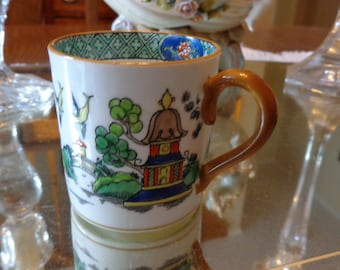 Vintage Staffoedshire Hand Painted Espresso Demitasse Cup / Vintage Black Coffee Cup/ English China