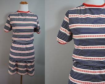 1970's Playsuit // Skirt And Top // Small