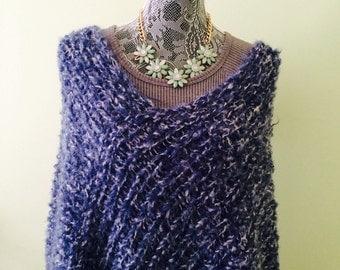 Knitting Pattern Poncho Bulky Yarn : Bulky poncho Etsy