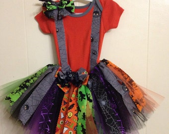 CLEARANCE  Baby Spider Tutu Set Perfect for Halloween, pageant, outfit of choice baby shower, photo shoot  Infant 3-6 months