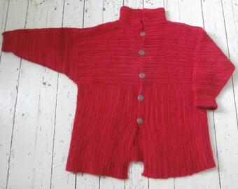 Hand Knit, Oversized, Chunky, Cardigan Sweater