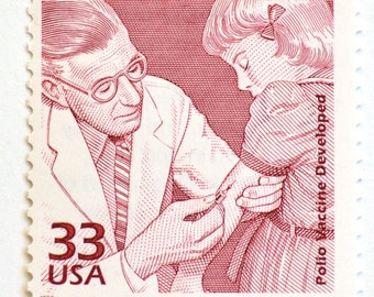 10 Doctor Postage Stamps // 33 Cent Medical Health Care Stamps // Celebrate the Century Stamps 1950s