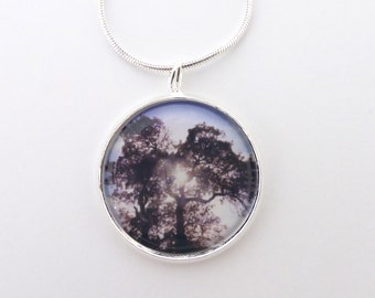 Tree Pendant Necklace, Handmade Jewelry, Original Photography, Wearable Picture Art, Boho Jewelry, Necklaces For Women, Pine Tree Pendant