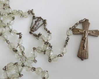 French Rosary Beaded Religious Jewelry