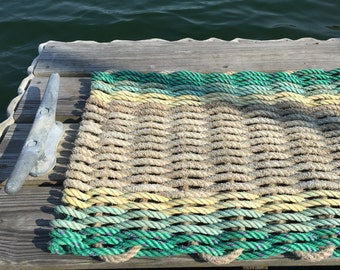 Recycled Lobster Rope Doormat, Handwoven in Maine: Chatto