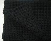 Black Crochet winter Baby Shower Gift Car Seat Crochet Baby Blanket, Stroller Blanket  Mini Blanket, Baby Blanket, Nursery Decor, Black