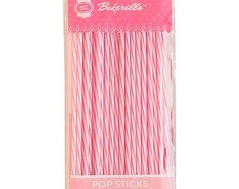 Striped Pink White Pop Sticks, Candy Chocolate Lollipop Sticks, Candy Crafting Supplies, Candy Molds Sticks, Party Candy Birthday Favors