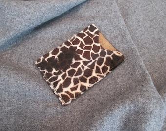Animal Skin Business Card Holder, Credit Card Holder, Leather Card Holder