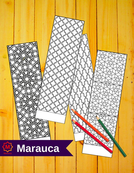 4 bookmarks coloring pages printable