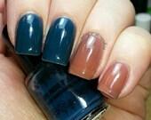 Thermal nail polish - Farmers tan -  mini 7ml  -  Handmade - polish  - Vegan