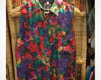 Multi coloured vest sleeve shirt