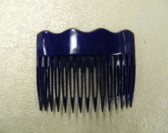 Vintage navy side hair comb made in France