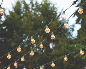 Globe Light Strand - Choose your length, Lantern Lights - Bulbs NOT INCLUDED - Wedding / Event Supplies & Decor