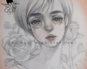 Digital Stamp- 'Boys over flower'- 300dpi JPEG/ PNG- MAC0318