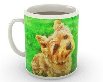 Norwich Terrier- 11 Ounce Ceramic Mug By Doggylips …