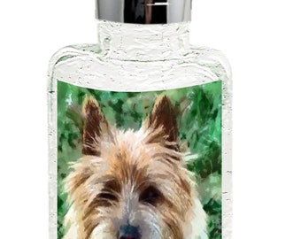 Cairn Terrier 'Toto' Trio 8 Ounce Glass Soap/lotion Dispenser By Doggylips