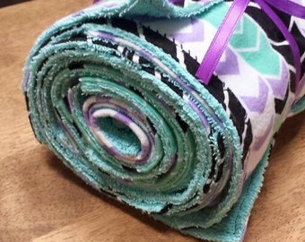 Mint & Lavender chevron Paperless Towels