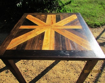 Rustic Table, Rustic Wood Furniture, Lath Table, Square Table, Hairpin Leg Table, Reclaimed Wood Table, Cabin Furniture, Pub Table, Custom