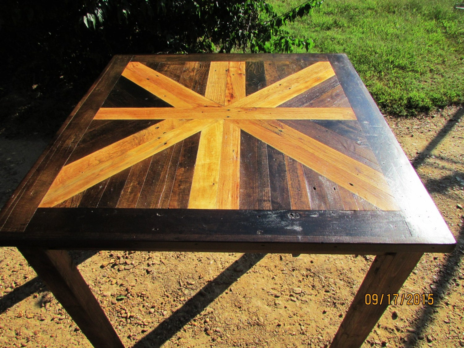 🔎zoom - Rustic Table Rustic Wood Furniture Lath Table Square Table