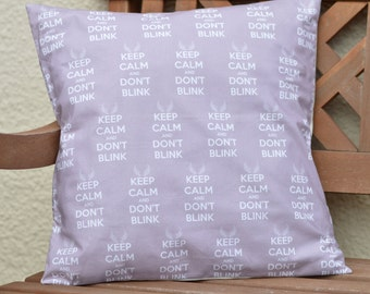 Doctor Who Cushion Cover, Weeping Angel Cushion Cover, Dr Who Cushion Cover, Keep Calm Cushion Cover, Dr Who Pillow, Weeping Angel Pillow