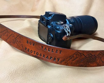 Custom Leather Camera Strap