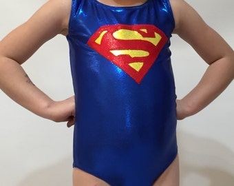 Superman Gymnastics  Leotard- Made to Order