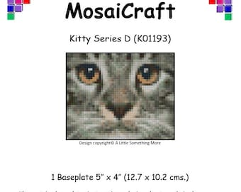 MosaiCraft Pixel Craft Mosaic Art Kit 'Kitty Series D' (Like Mini Mosaic and Paint by Numbers)