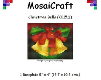MosaiCraft Pixel Craft Mosaic Art Kit 'Christmas Bells' (Like Mini Mosaic and Paint by Numbers)