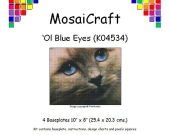 MosaiCraft Pixel Craft Mosaic Art Kit 'Ol' Blue Eyes' (Like Mini Mosaic and Paint by Numbers)