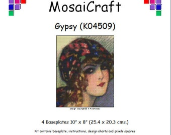 MosaiCraft Pixel Craft Mosaic Art Kit 'Gypsy' (Like Mini Mosaic and Paint by Numbers)