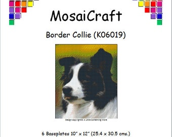 MosaiCraft Pixel Craft Mosaic Art Kit 'Border Collie' (Like Mini Mosaic and Paint by Numbers)