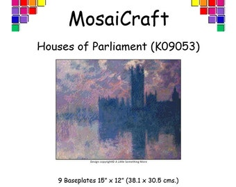 MosaiCraft Pixel Craft Mosaic Art Kit 'Houses Of Parliament' (Like Mini Mosaic and Paint by Numbers)