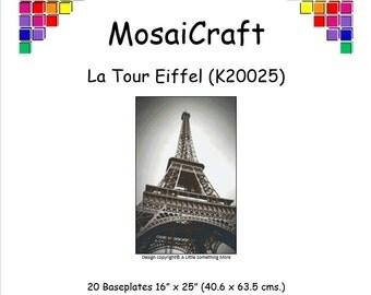 MosaiCraft Pixel Craft Mosaic Art Kit 'La Tour Eiffel' (Like Mini Mosaic and Paint by Numbers)