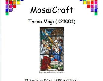 MosaiCraft Pixel Craft Mosaic Art Kit 'Three Magi' (Like Mini Mosaic and Paint by Numbers)