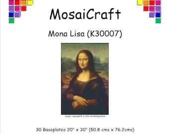 MosaiCraft Pixel Craft Mosaic Art Kit 'Mona Lisa' (Like Mini Mosaic and Paint by Numbers)