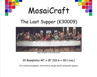 MosaiCraft Pixel Craft Mosaic Art Kit 'The Last Supper' (Like Mini Mosaic and Paint by Numbers)