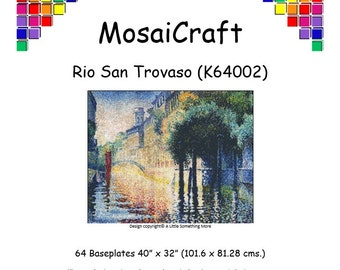 MosaiCraft Pixel Craft Mosaic Art Kit 'Rio San Trovaso' (Like Mini Mosaic and Paint by Numbers)